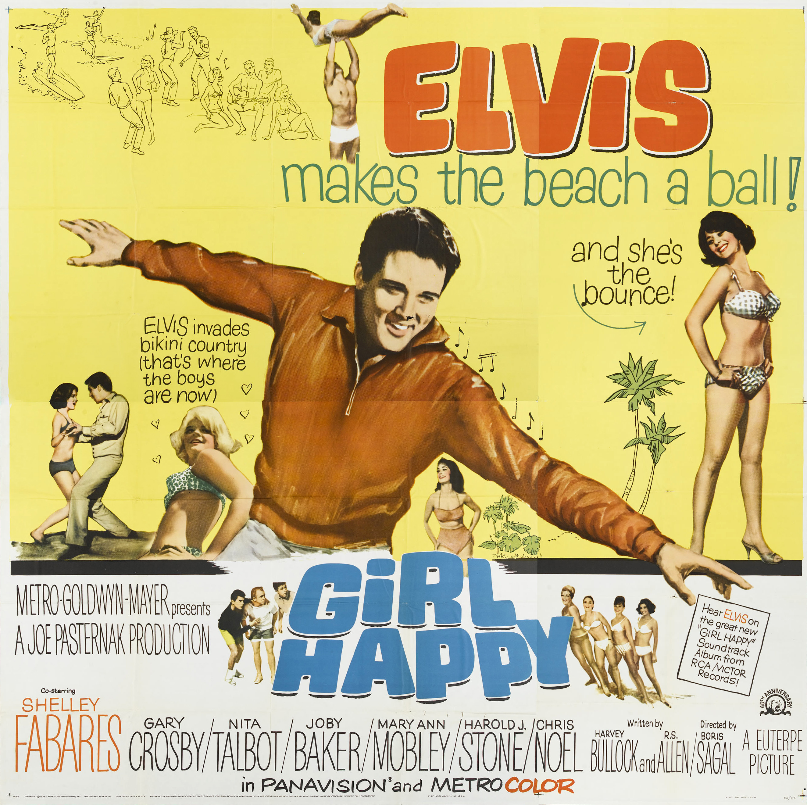 Frankie and Annette and the beach party gang had stiff competition at the  box office from Elvis and Girl Happy. Produced by Joe Pasternak for MGM and  ...